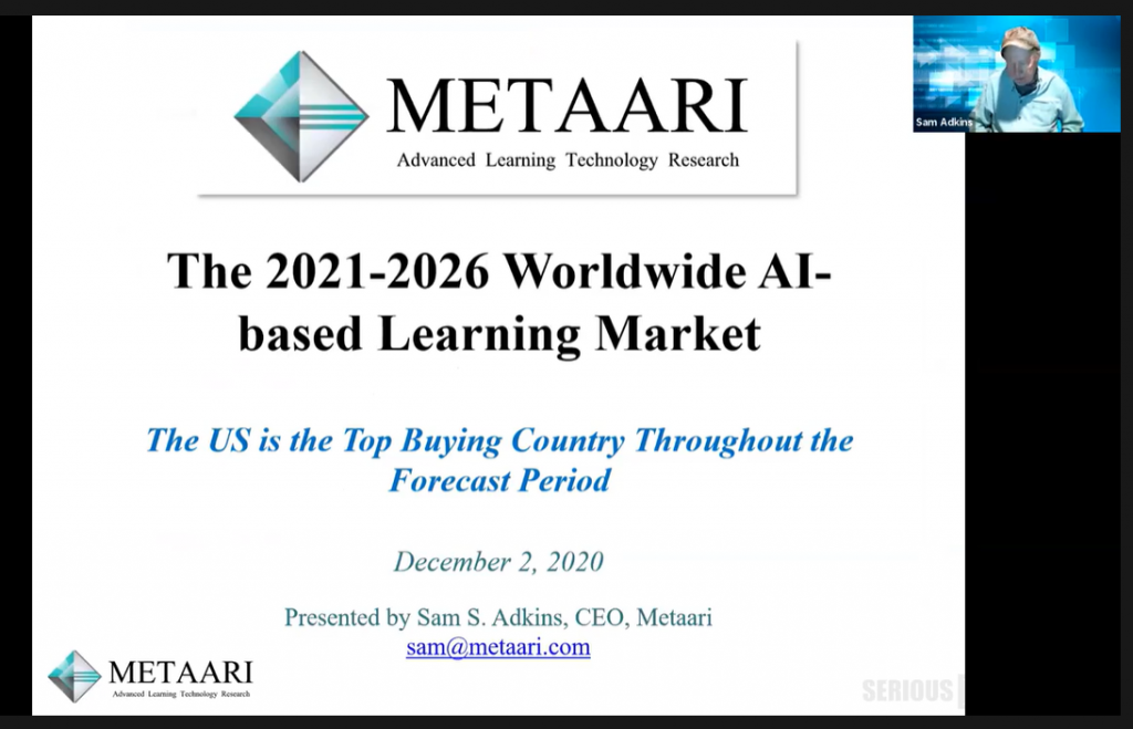2020-2025 AI-Based Learning Market – Metaari Report – Sam Adkins